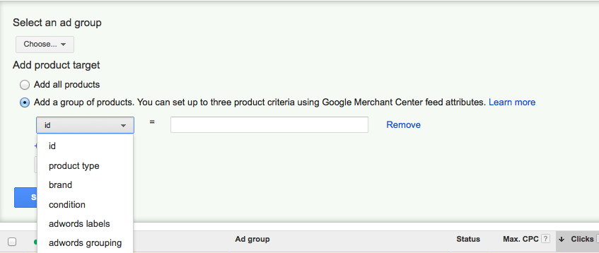 product listing ads feed mapping