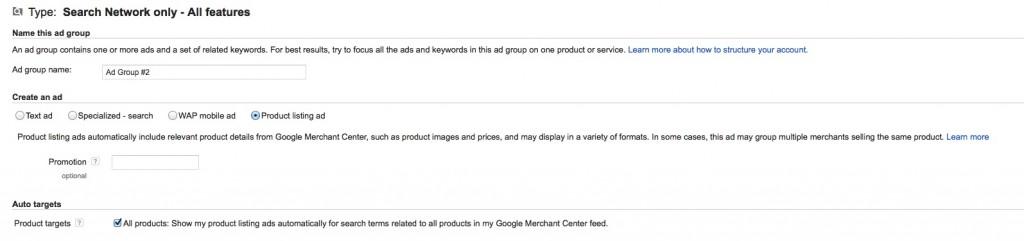 product listing ads set up 1