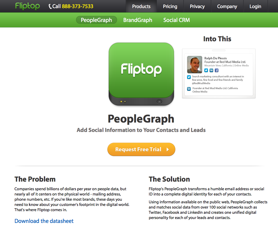 Fliptop people graph